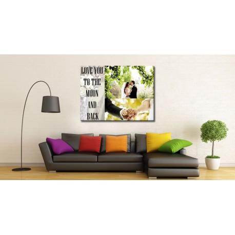 Εκτύπωση φωτογραφίας σε καμβά (Πίνακας) με τελάρο 50x70