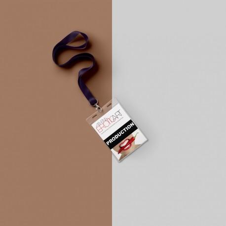 Καρτελάκι (Pass) με λουράκι & ζελατίνα για τον λαιμό
