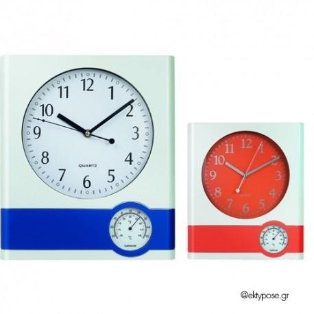 Διαφημιστικό Ρολόι Τοίχου - Θερμόμετρο
