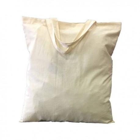 Τσάντα αγοράς με κοντά χερούλια 100% βαμβάκι