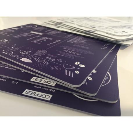 Αδιάβροχοι καταλόγοι - Menu με εκτύπωση σε plexiglass A4