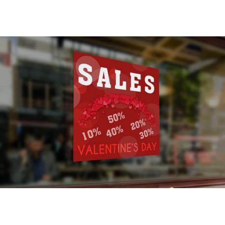 Sale Valentine's Day 10% 20%