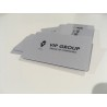 Silver (ασημένιες) επαγγελματικές πλαστικές Κάρτες  (pvc)